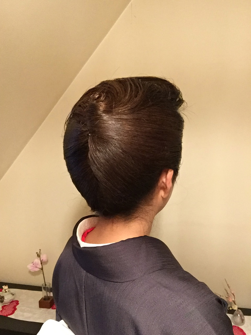 着物ヘアセット、クラシックなアップがお上手な美容室「雛罌粟(コクリコ)」さんへ♪