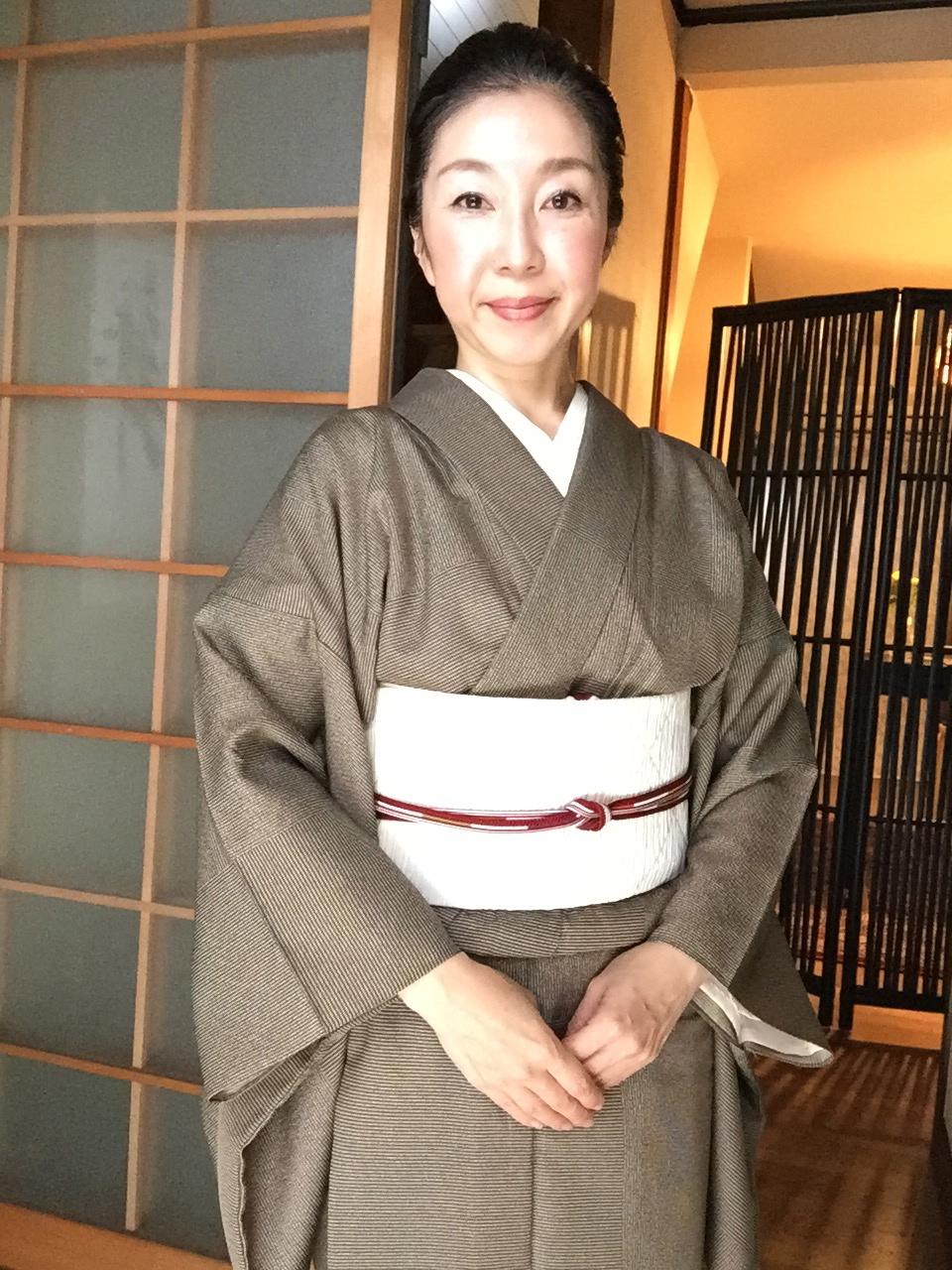 着物コーディネート(おしゃれ篇)4月下旬 最高気温24℃ 単衣を着ています!
