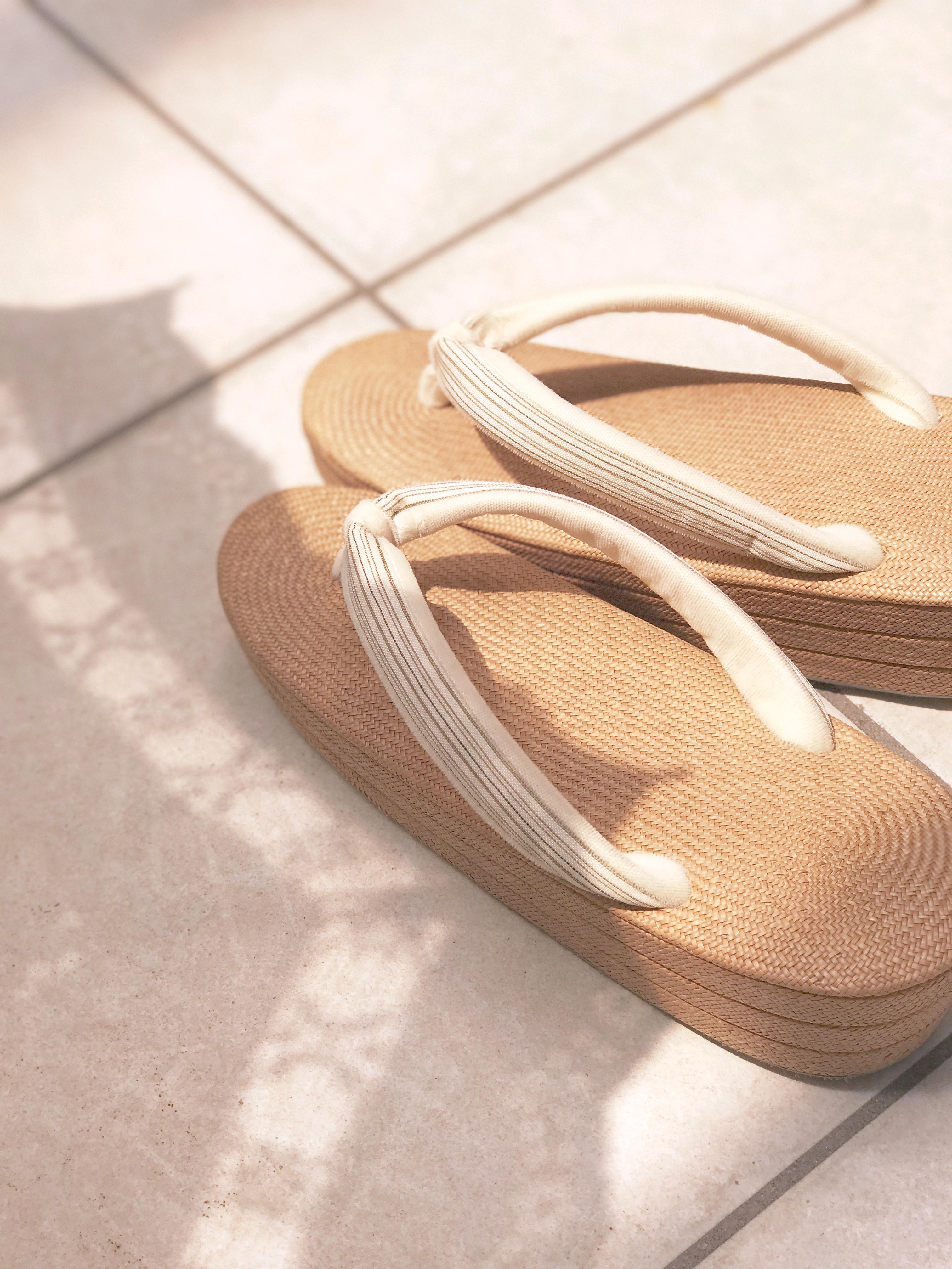 """着物コーディネート """"夏に履きたい草履"""" 夏着物に合わせて"""