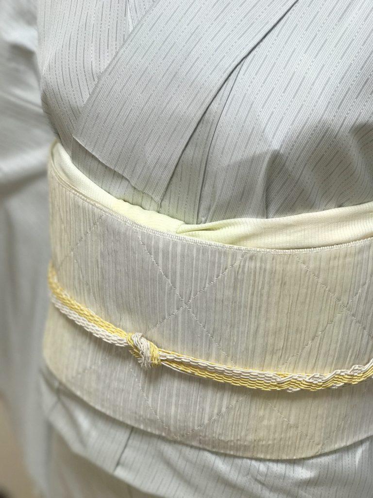 """着物コーディネート""""6月の帯"""" 八寸の名古屋帯 または 夏帯を締めます"""