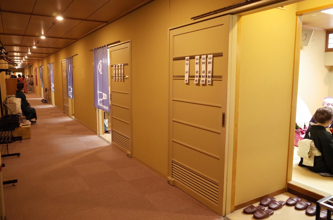 国立文楽劇場 楽屋廊下