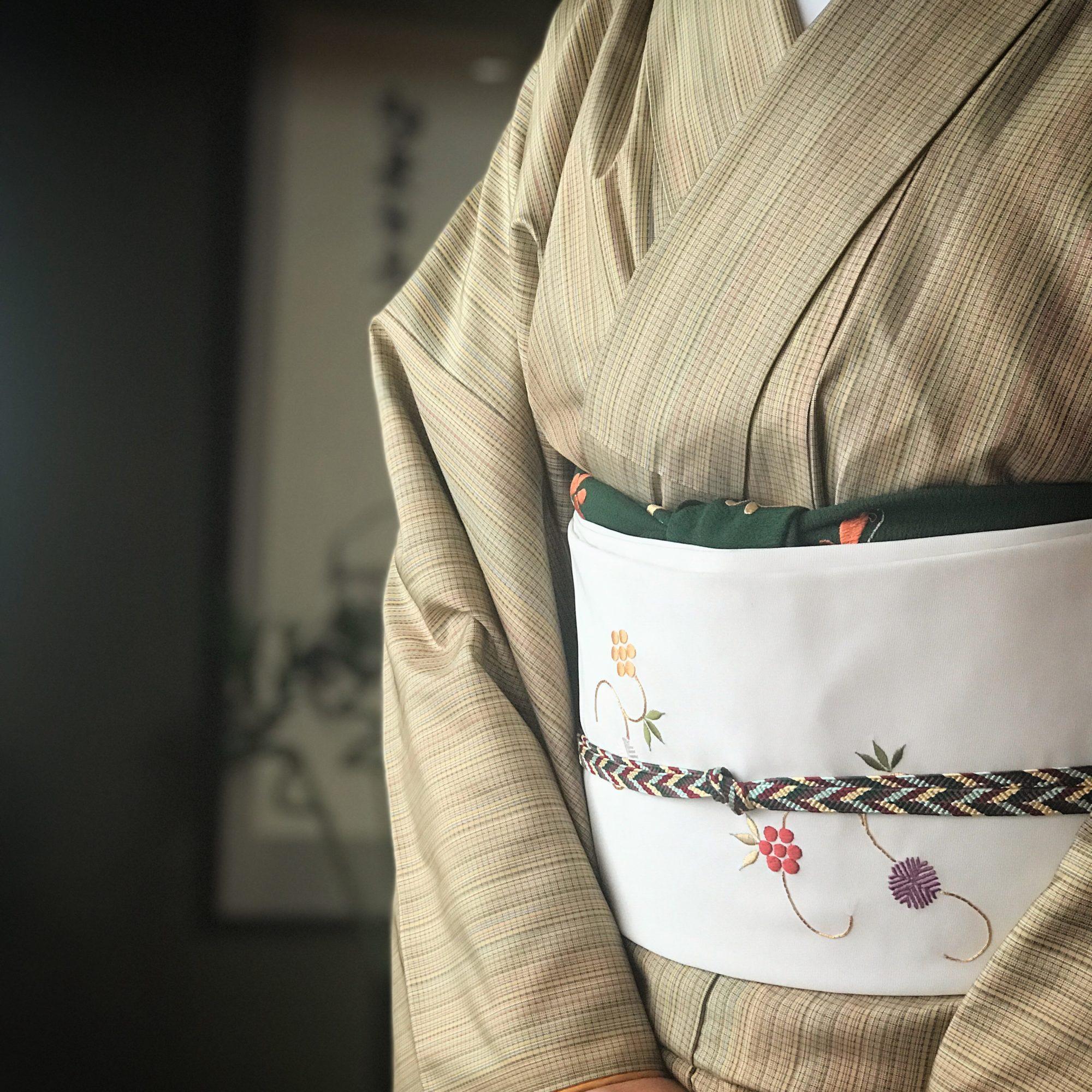 """着物コーディネート""""簡単に秋コーデ""""は帯揚げ&帯締めをシックな色に"""