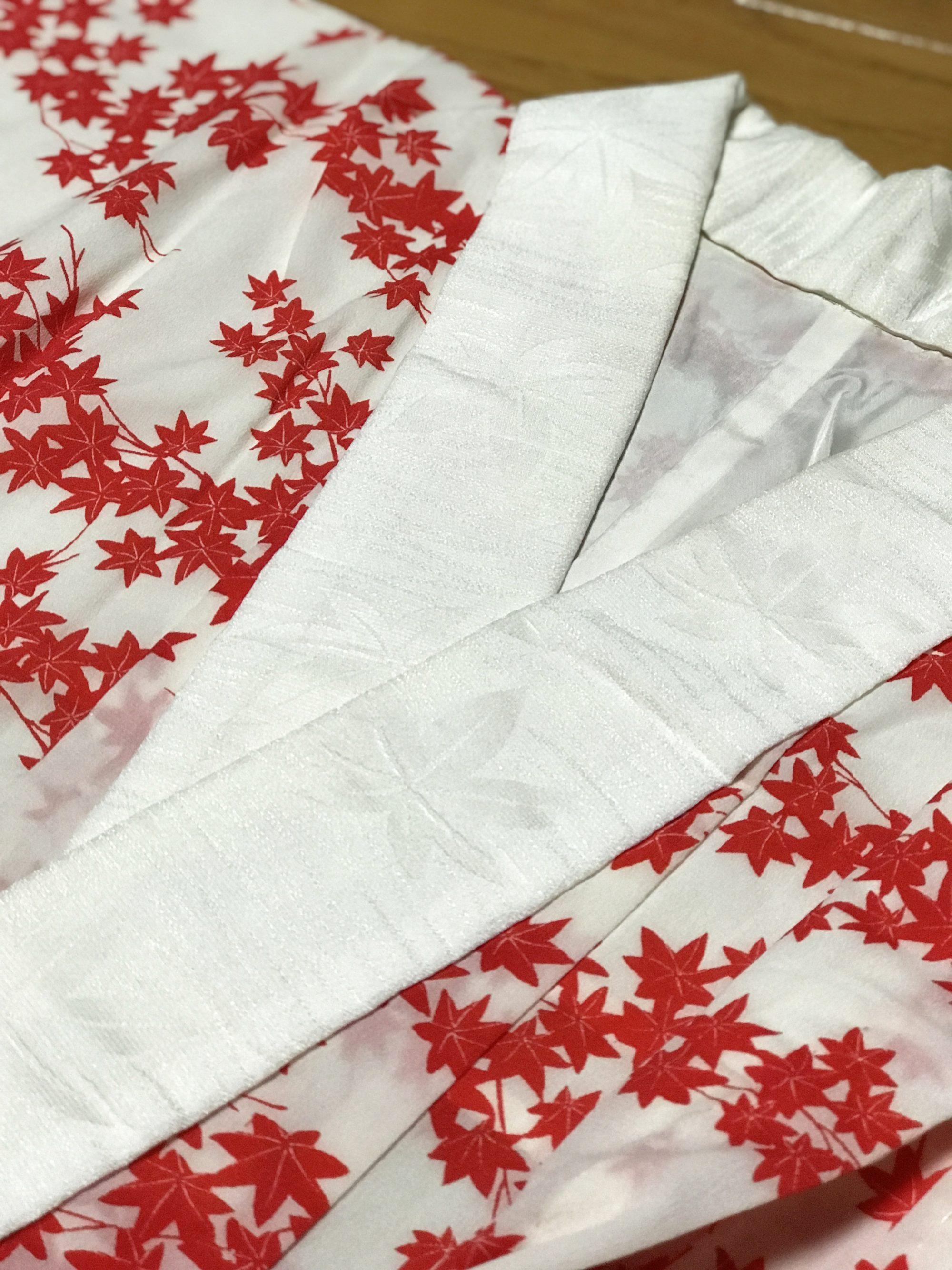 長襦袢 半襟 紅葉