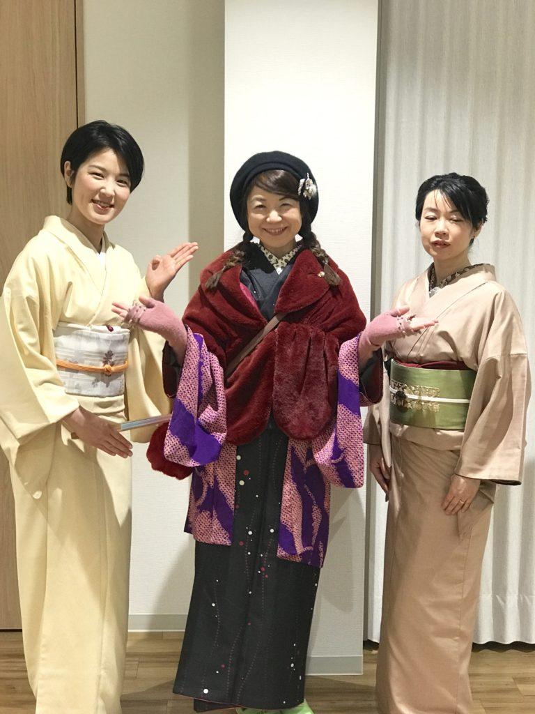 大阪市内 京町堀教室 2018年お稽古納め。